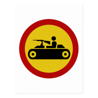 No Armored Vehicles, Traffic Sign, Bosnia Postcard
