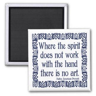No Art Square Magnet