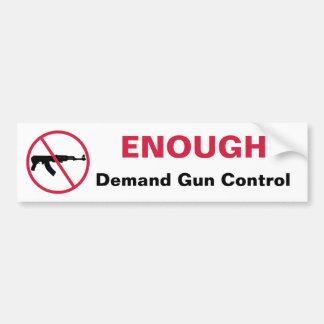 No assault weapons bumper sticker