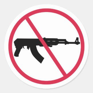 No assault weapons classic round sticker