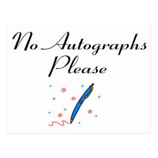 No Autographs Please Postcard