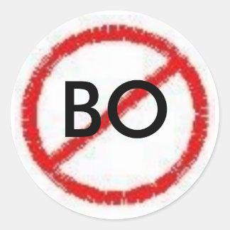 No B.O. Classic Round Sticker
