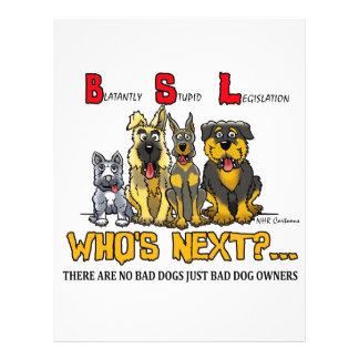 No B.S.L (Blatantly Stupid Legislation) Flyers