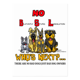 No B.S.L  No Breed Specific Legislation Postcard