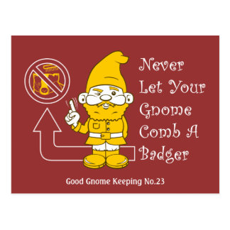 No Badgers For Gnomes Post Cards