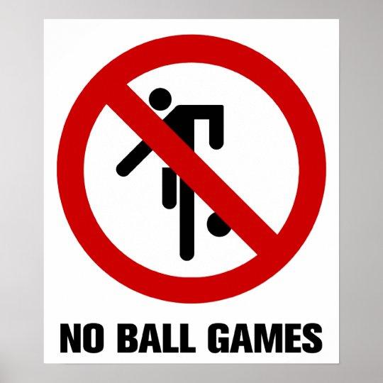 NO Ball Games ⚠ Thai Park Sign ⚠