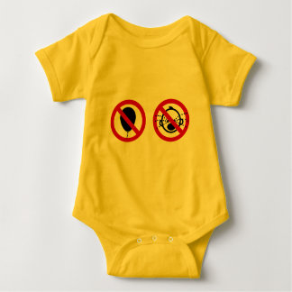 NO Balloon & NO Cry Babies ⚠ Thai Signs ⚠ Baby Bodysuit