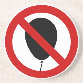 NO Balloon ⚠ Thai BTS Skytrain Sign ⚠ Coaster