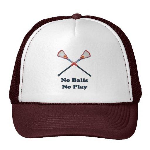 No Balls No Play Lacrosse Hat