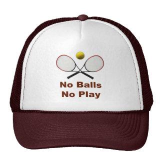 No Balls No Play Tennis Mesh Hats