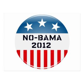NO-BAMA 2012 ELECTION BUTTON PRINT POSTCARD