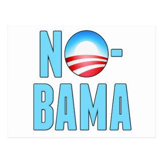 No-Bama Anti Obama Postcard