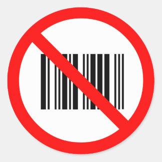 No bar codes classic round sticker