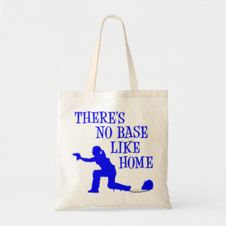 No Base Like Home, blue.png Budget Tote Bag