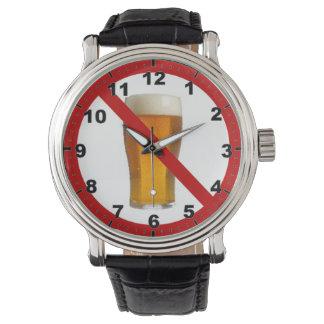 """No Beer"" design wrist watch"
