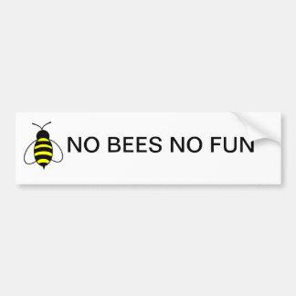 NO BEES NO FUN Bumper sticker Car Bumper Sticker