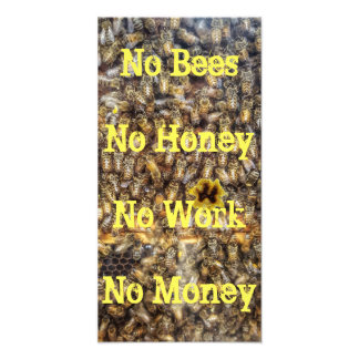 """No Bees, No Honey"" Quote Print"