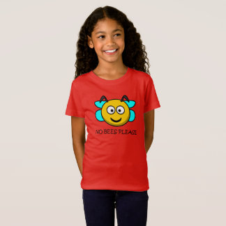 No Bees Please - Bee Allergy Tee Shirt