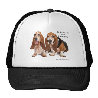 no better love than basset love cap