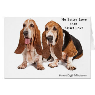 no better love than basset love greeting card