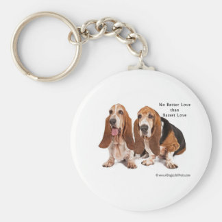 no better love than basset love key ring