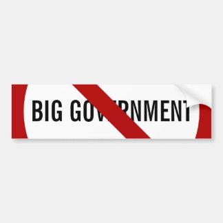 No Big Government Bumper Sticker Car Bumper Sticker