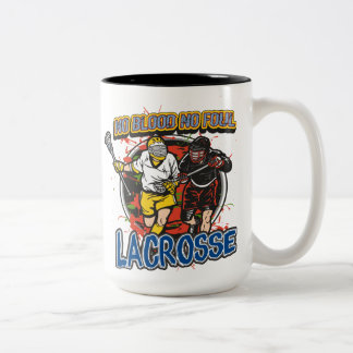 No Blood Lacrosse Two-Tone Coffee Mug