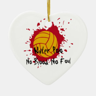 No Blood No Foul Ceramic Heart Decoration