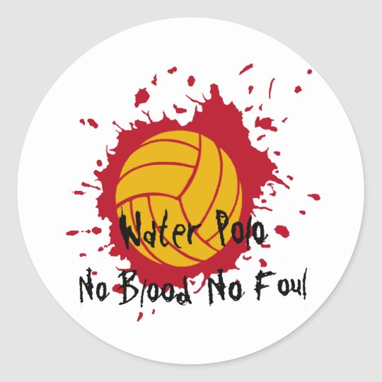No Blood No Foul Classic Round Sticker