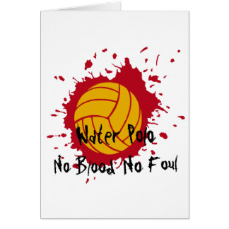 No Blood No Foul Greeting Card