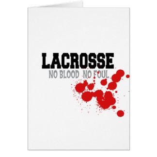 No Blood No Foul Lacrosse Cards