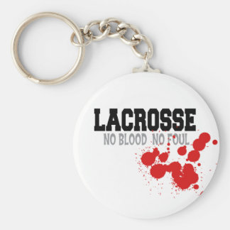 No Blood No Foul Lacrosse Gift Keychains