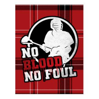 No Blood No Foul Lacrosse Post Card