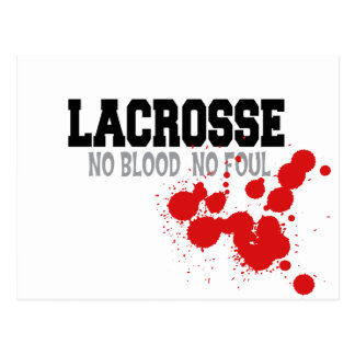No Blood No Foul Lacrosse Post Cards