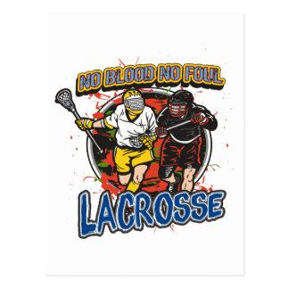 No Blood, No Foul Lacrosse Postcard