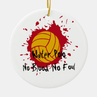 No Blood No Foul Round Ceramic Decoration