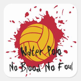 No Blood No Foul Square Sticker