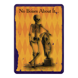 No Bones About It Halloween Party Card