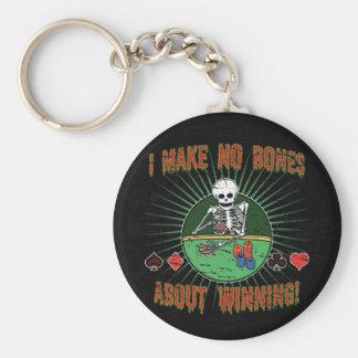 No Bones About Winning Basic Round Button Key Ring