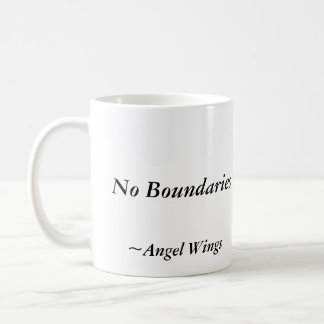 No Boundaries, Mug, James Ryan, Angel Wings Basic White Mug