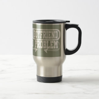 NO BOYFRIEND NO PROBLEM Funny Travel Mug