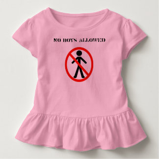 No Boys Allowed Girl's Only Club Sleep Overs T Shirts