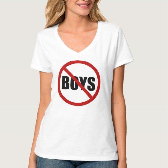 No Boys Allowed Sign Statement Women's Tee Shirt