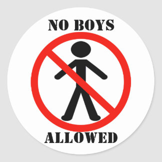 No Boys Allowed Stickers