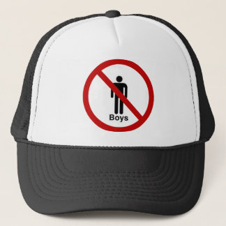 """No Boys"" design Trucker Hat"