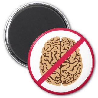 NO Brain 6 Cm Round Magnet