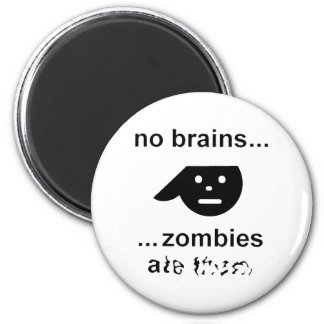 No Brains, Zombies Ate Them 6 Cm Round Magnet
