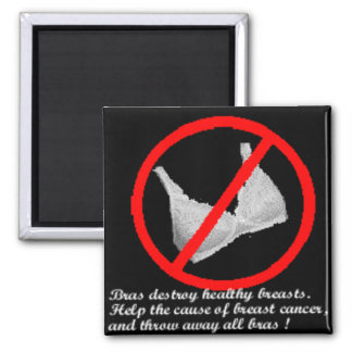 no bras 4uu or any woman with breasts square magnet