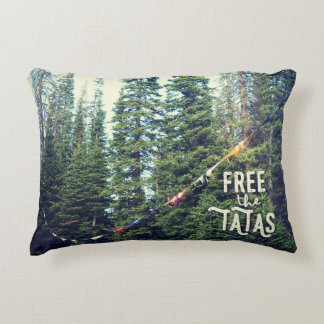 No Bras Allowed In The Forest Decorative Cushion
