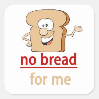 No bread allergy alert sticker
